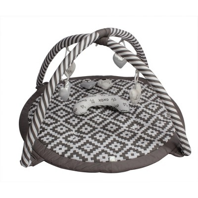 Bacati - Baby Activity Gyms & Playmats (Aztec Love Grey/Silver)