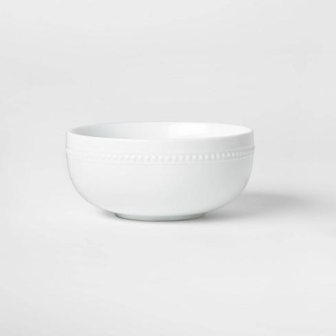 Porcelain Beaded Rim Cereal Bowl 20oz White - Threshold™ - image 1 of 3