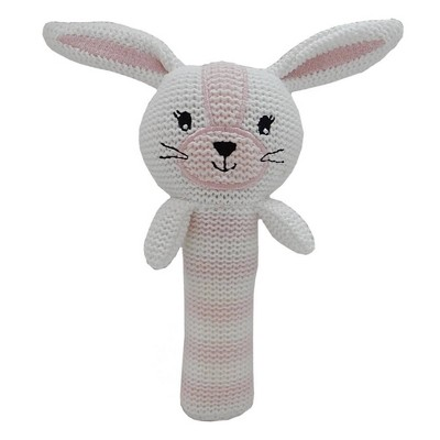 Living Textiles Baby Huggable Knit Rattle - Lucy Bunny