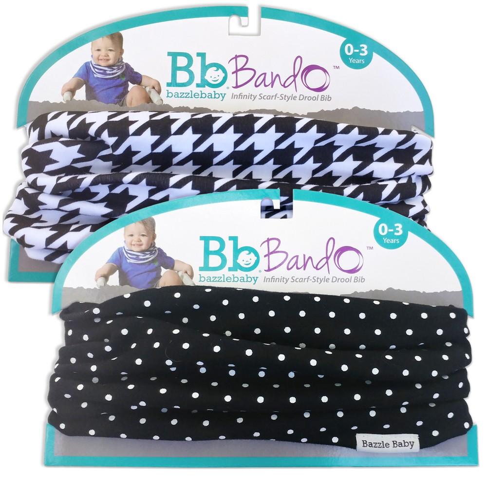 Image of Bazzle Baby 2pk Bando Bib Set - Arrows & Tiny Polka Dot