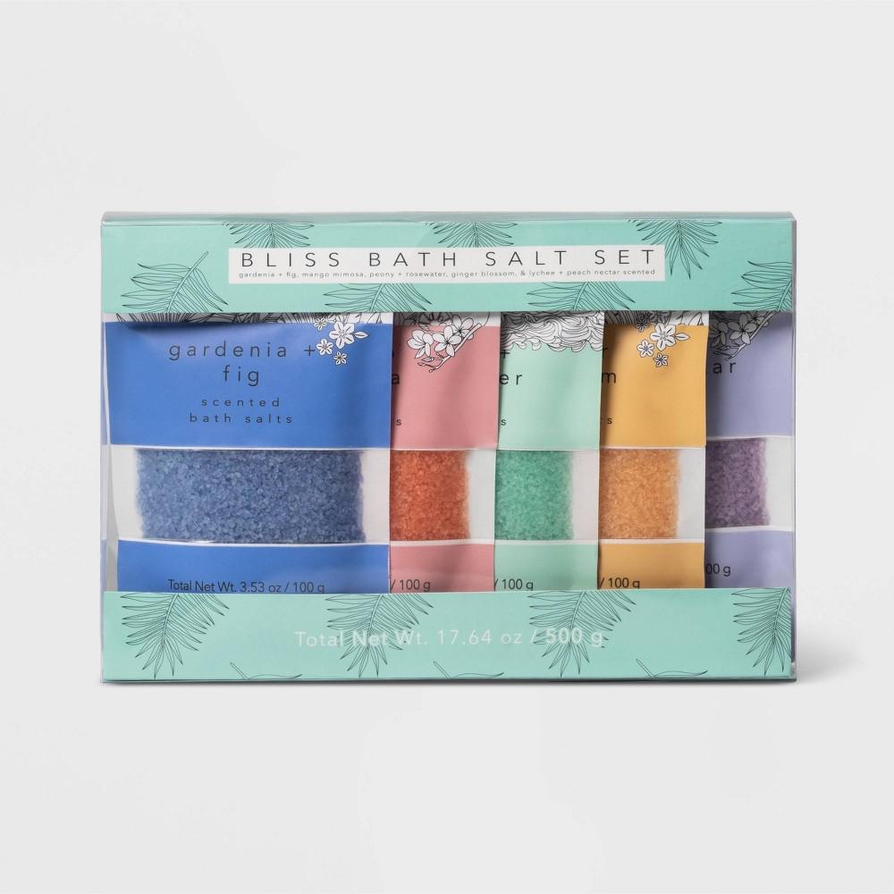 Image of Bliss Bath Salt Set - 17.64oz - 5pc - Target Beauty