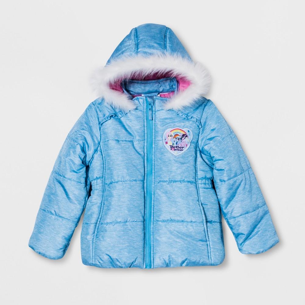 Girls' My Little Pony Puffer Jacket - Blue 6X