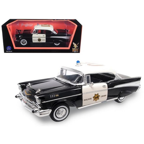 1957 Chevrolet Bel Air Police 118 Diecast Model Car By Road