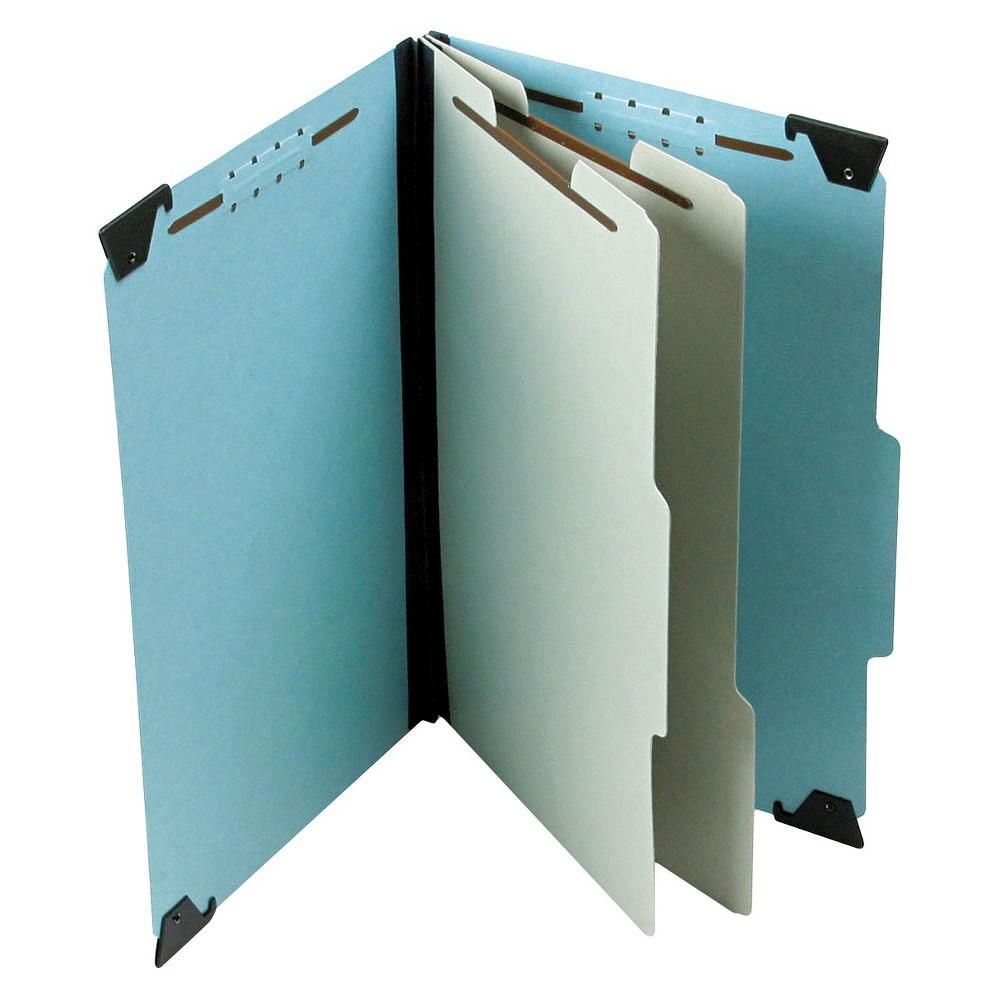Pendaflex Pressboard Hanging 2 Divider/6-Sections Legal File Folders - Light Blue