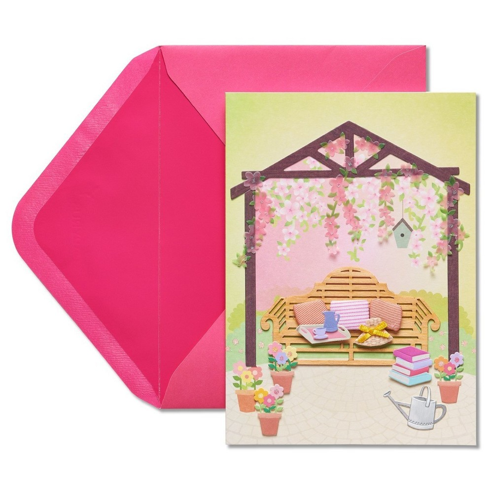 Papyrus Gazebo Mother's Day Card with Glitter, Multi-Colored