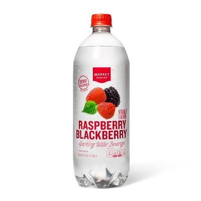 Raspberry Blackberry Sparkling Water - 1 L Bottle - Market Pantry™