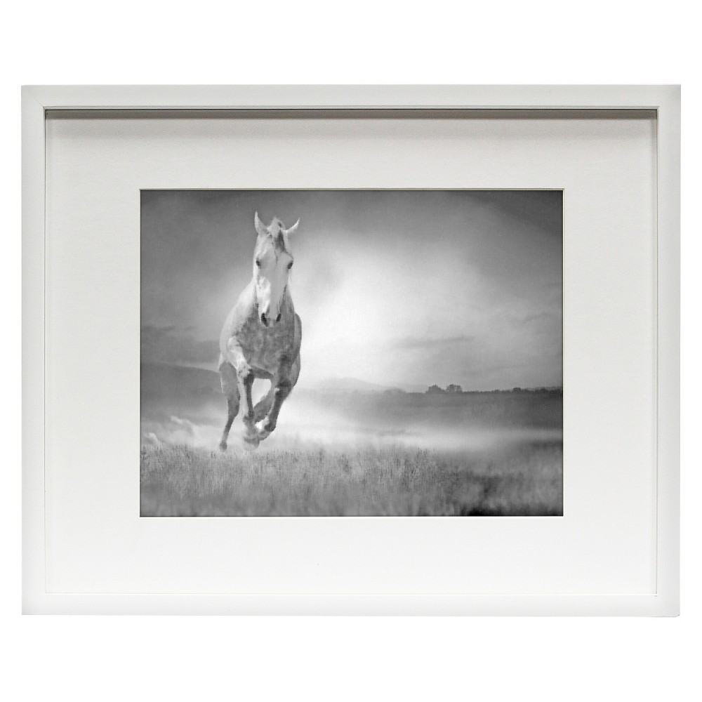"""Image of """"11"""""""" x 14"""""""" Matted Wood Frame White - Room Essentials"""""""