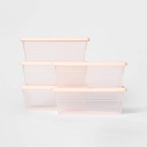 Set of 5 6qt Shoe Box Peach - Room Essentials™ - image 1 of 2