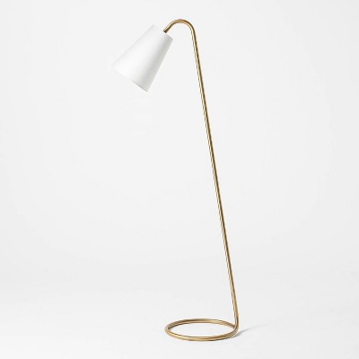 Metal Tube Leaning Floor Lamp Brass - Threshold™ designed with Studio McGee