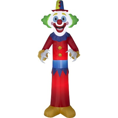 Gemmy Christmas Airblown Inflatable 9' Happy Clown, 9 ft Tall, red