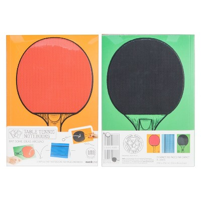 Suck UK Table Tennis Composition Notebooks 1 Subject College Ruled 2ct