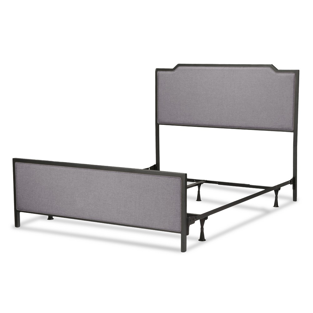 Bayview Metal and Upholstered Bed - Black Pearl - California King - Fashion Bed Group