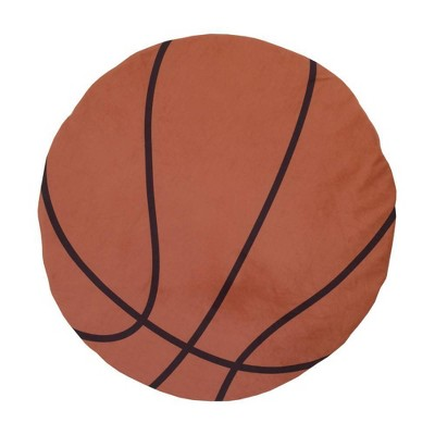 Little Love By NoJo Basketball Super Soft Round Tummy Time Playmat - Brown and Black