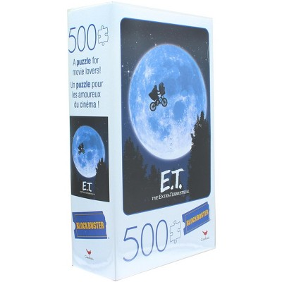 Cardinal Games E.T. The Extra Terrestrial 500 Piece Jigsaw Puzzle in Plastic VHS Video Case