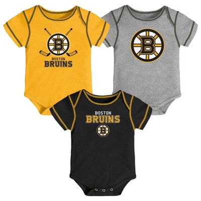 NHL Boston Bruins Boys' Game Winner 3pk Body Suit Set - 3-6M