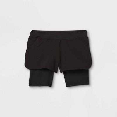 Toddler Girls' Activewear Shorts - Cat & Jack™ Black