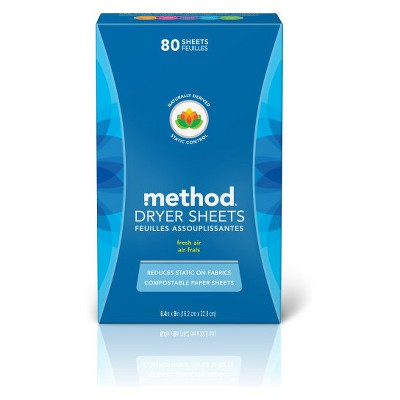 method Fresh Air Dryer Sheets - 80ct
