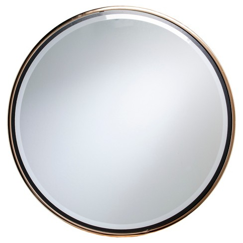 Wais Round Wall Mirror - Champagne Gold with Black - Holly & Martin - image 1 of 5