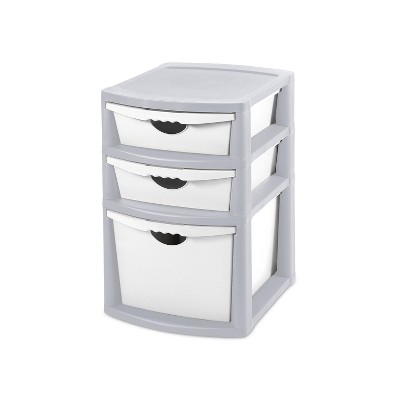 Sterilite 3 Drawer Storage Tower With Bins