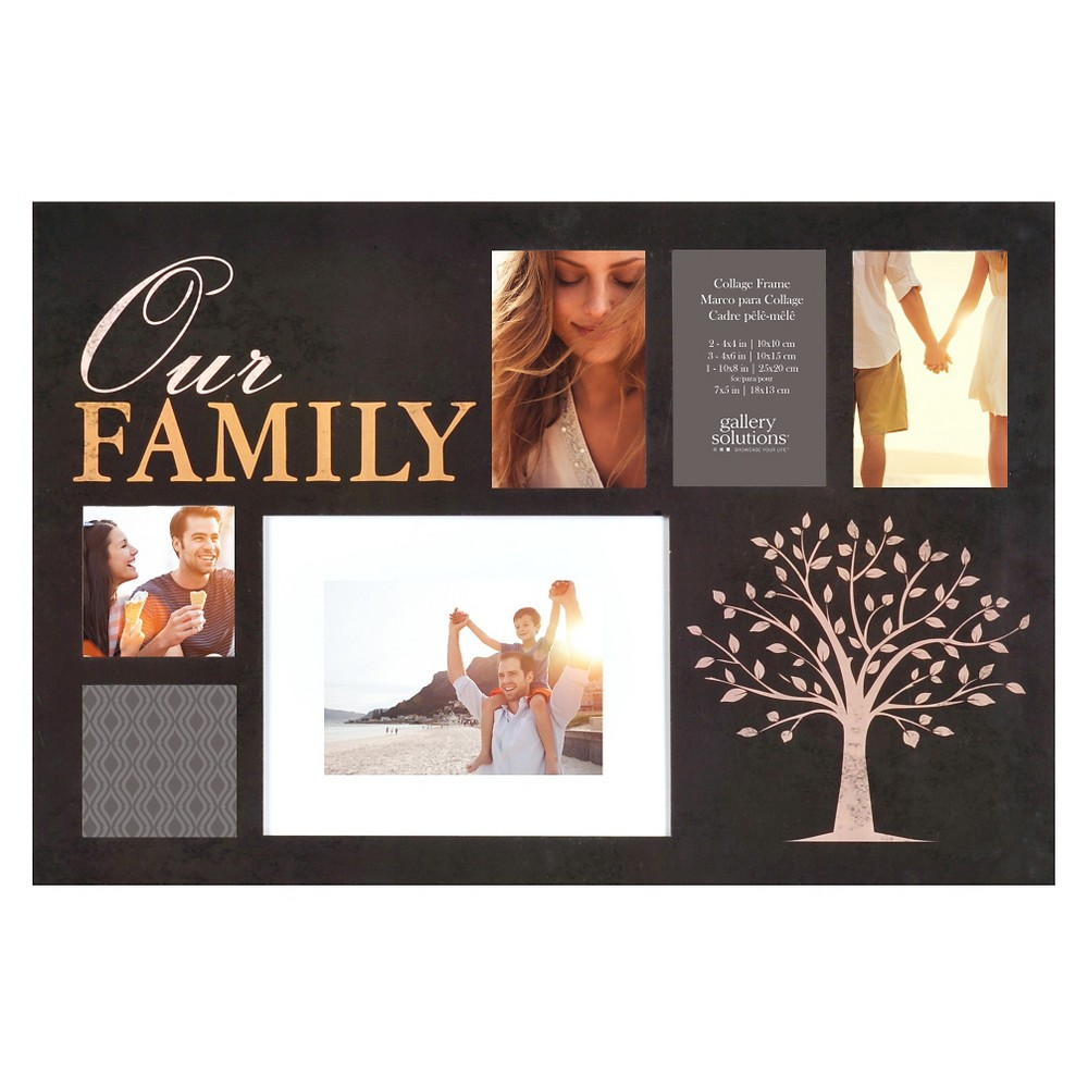 Image of Gallery Solutions Our Family Collage Frame - Black