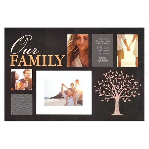 Gallery Solutions Our Family Collage Frame - Black - image 1 of 4