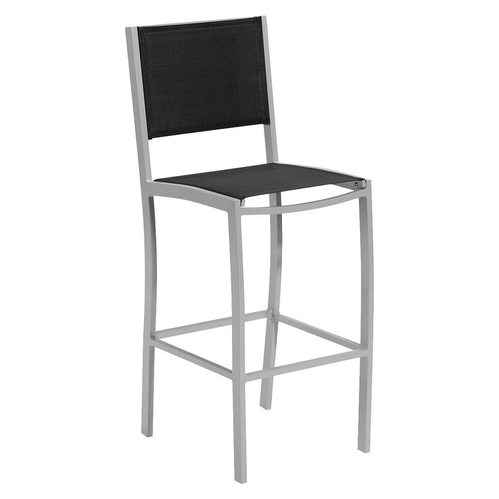 Travira Patio Bar Chair - Black Sling - Oxford Garden