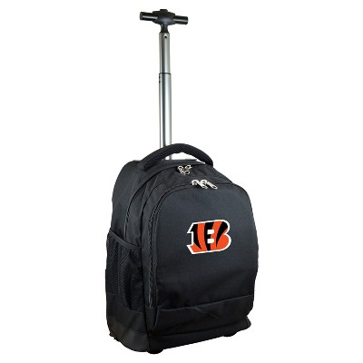 NFL Cincinnati Bengals Premium Wheeled Backpack - Black