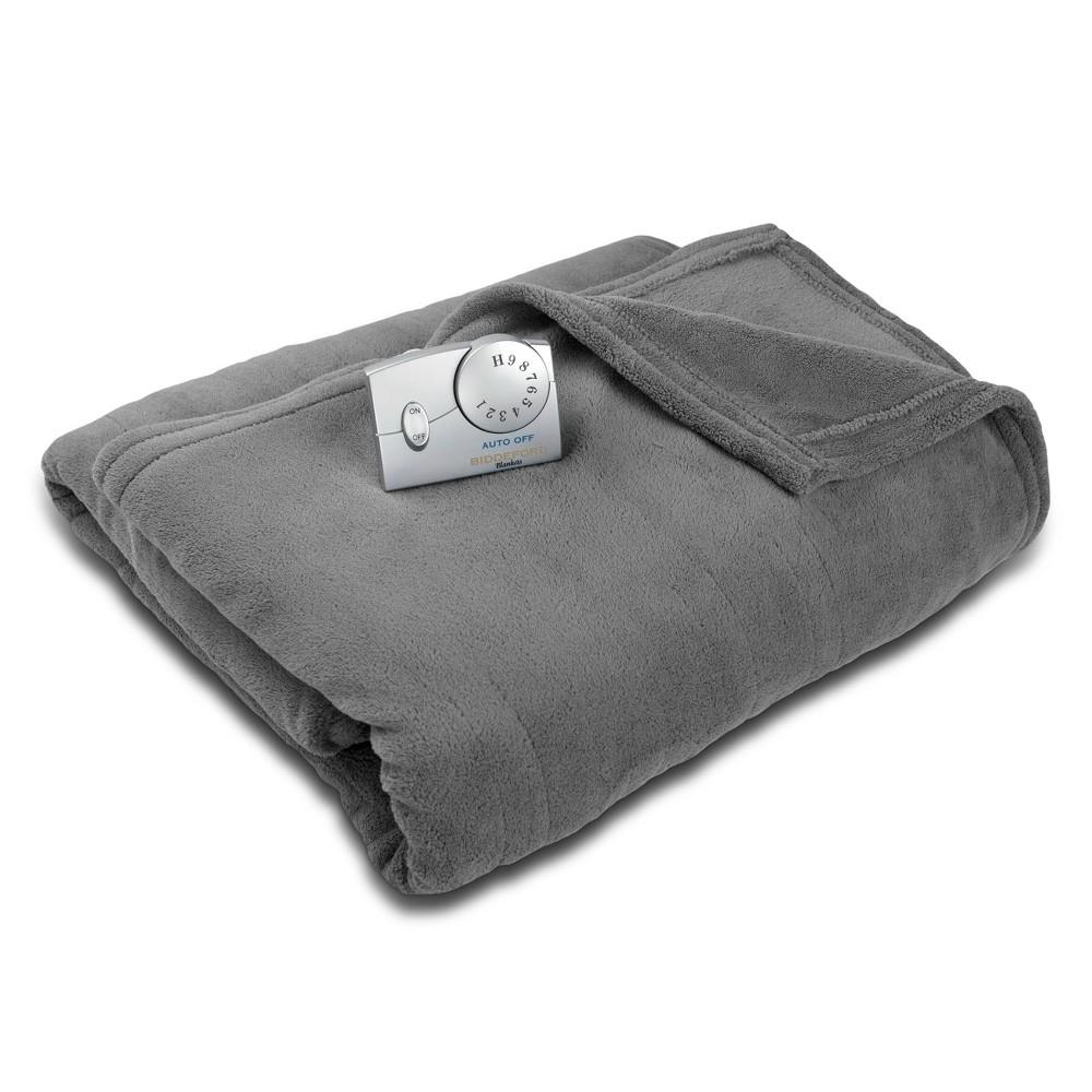 Microplush Electric Blanket (Twin) Charcoal Gray - Biddeford Blankets