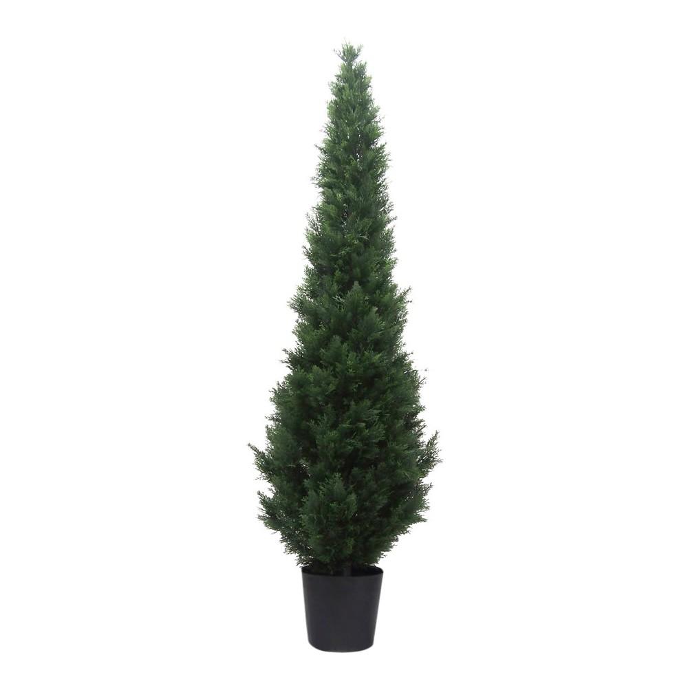 Image of Artificial Potted Cedar Tree (UV) (7Ft) Green - Vickerman
