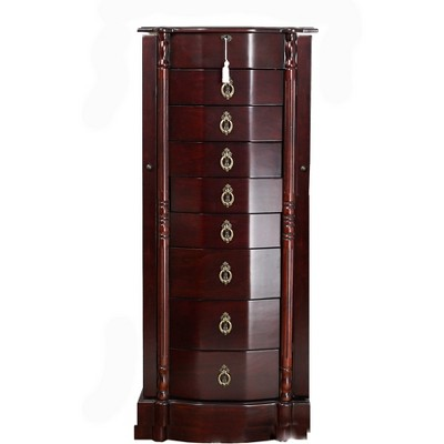 Robyn Standing Jewelry Armoire Cherry - Hives & Honey