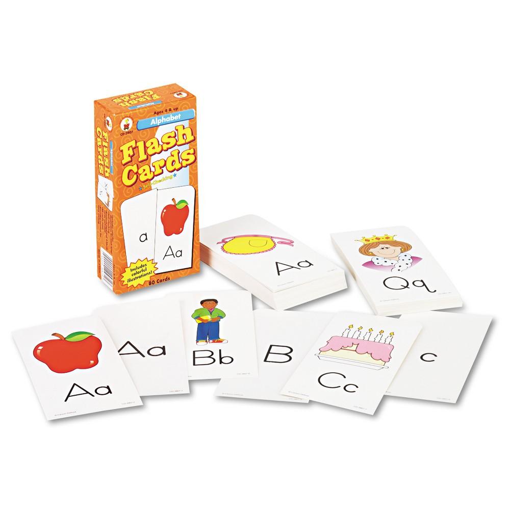 Image of Carson-Dellosa Publishing Flash Cards, Alphabet, 3w x 6h, 80/Pack