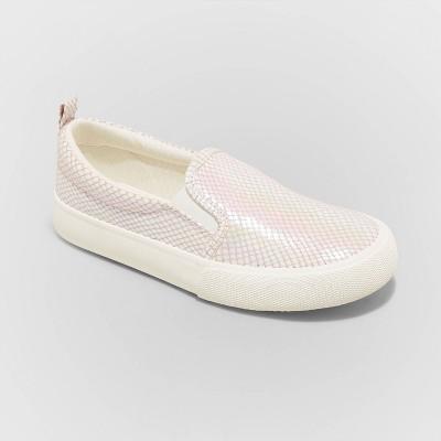 Girls' Robin Twin Gore Slip-On Sneakers - Cat & Jack™ Pink