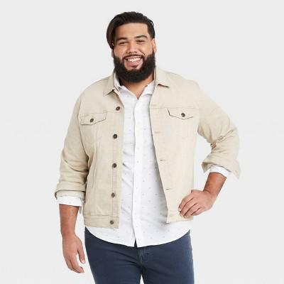 Men's Big & Tall Trucker Jacket - Goodfellow & Co™ British Khaki