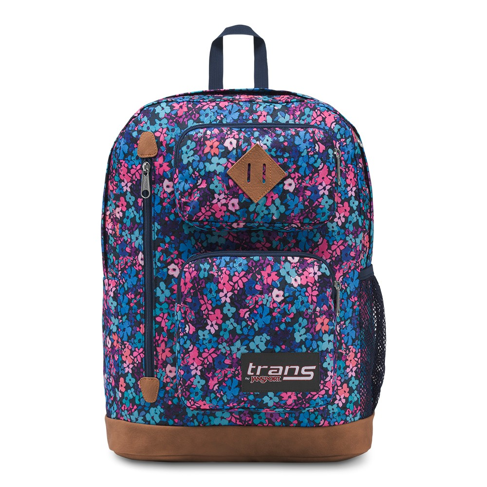 Trans by Jansport 17.7 Transfer Backpack - Flower Shower, Multi-Colored