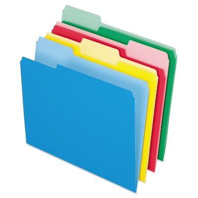 Pendaflex Colored File Folders 1/3 Cut Top Tab Letter Assorted Colors 24/Pack 82300