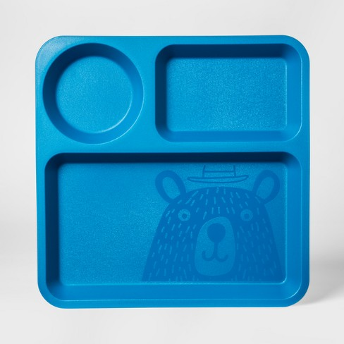 """10"""" Plastic Kids Square Divided Plate - Pillowfort™ - image 1 of 2"""