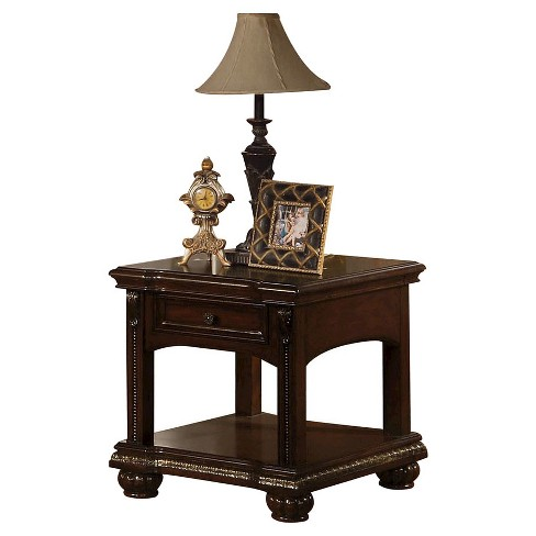 About This Item Details Shipping Returns Q A What S Giftnow Complete Your Living Room Look With The Cherry Wood End Table