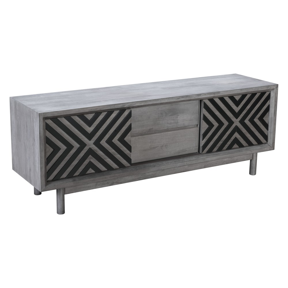 59 Modern TV Stand Gray - ZM Home