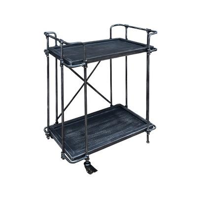 Oriole Industrial Bar Cart Dark Gray - Christopher Knight Home