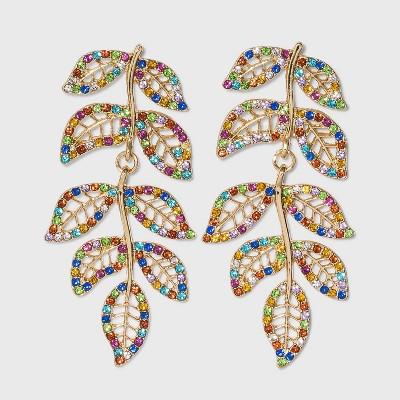 SUGARFIX by BaubleBar Colorful Crystal Vine Drop Earrings