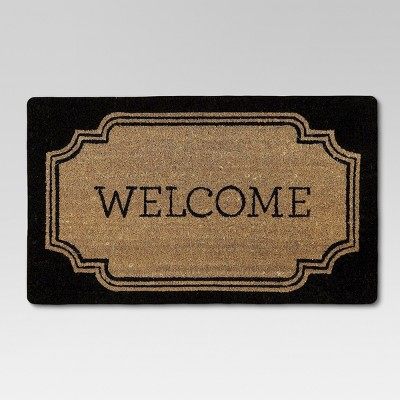 Welcome Estate Rubber & Coir Doormat (1'7 x2'7 )- Threshold™
