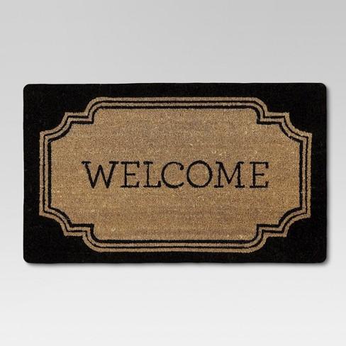"""1'6""""x2'6"""" Welcome Coir Doormat - Threshold™ - image 1 of 4"""
