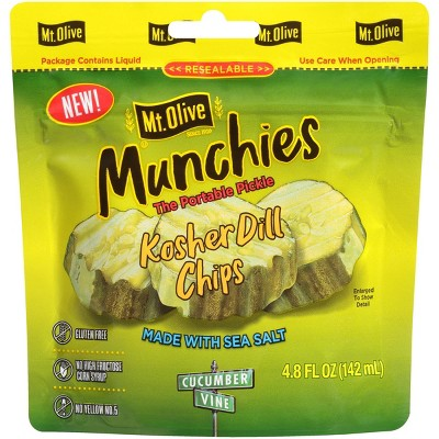 Mt. Olive Munchies Kosher Dill Chips Pickle Pouch - 4.8oz
