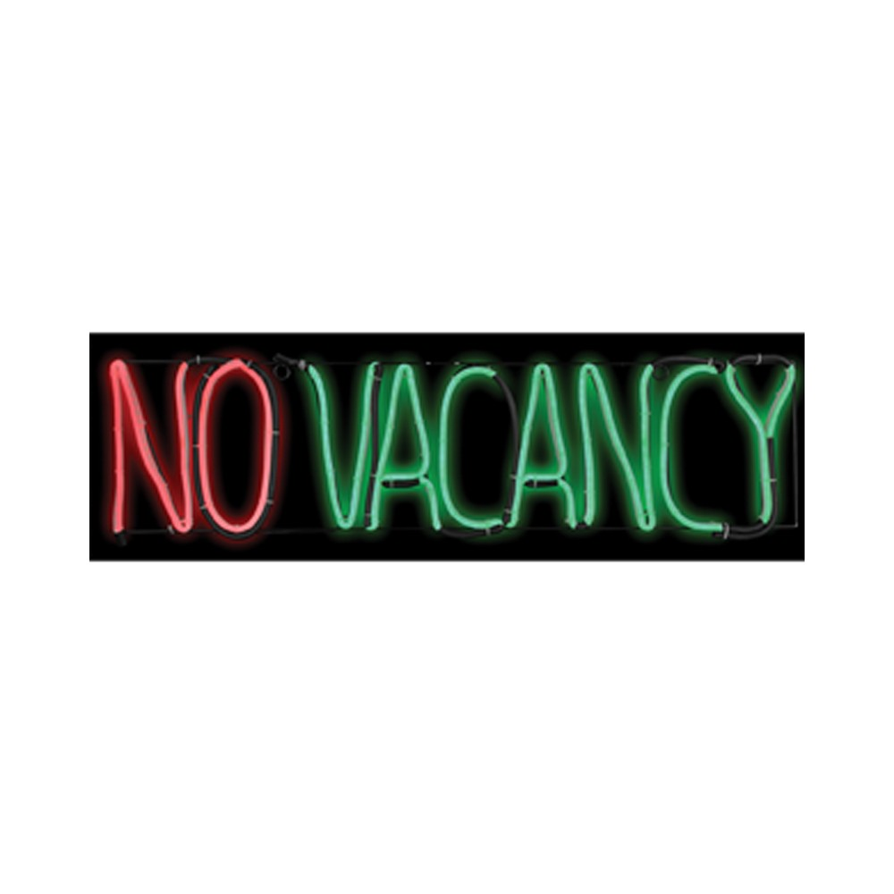 "Image of ""8"""" x 24"""" Halloween Lighted No Vacancy Sign, Multi-Colored"""