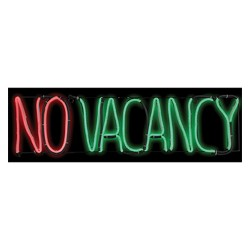 "8"" x 24"" Halloween Lighted No Vacancy Sign"