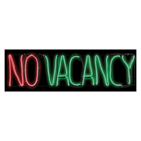 """8"""" x 24"""" Halloween Lighted No Vacancy Sign - image 1 of 3"""