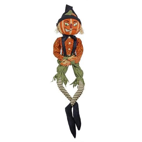 """Gallerie II 66"""" Riley Scarecrow Halloween Figure - Orange/Green - image 1 of 1"""