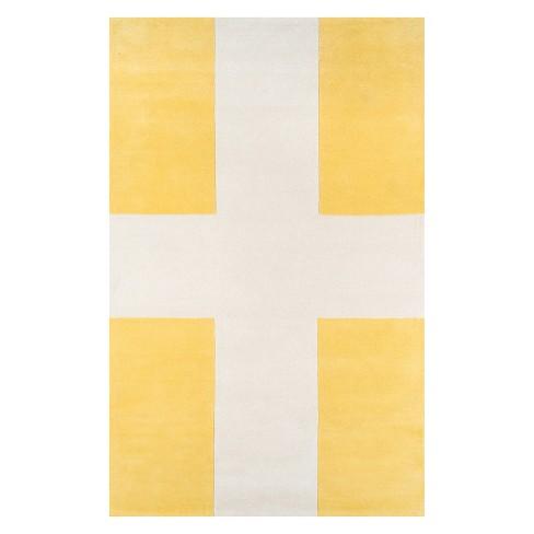 8 X10 Geometric Tufted Area Rug Yellow Novogratz By