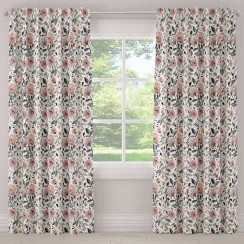 Mona Floral Blackout Curtain Panel Lavender - Cloth & Co. - image 1 of 6