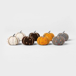 8pk Mini Tweed with Stitch Harvest Pumpkins - Spritz™